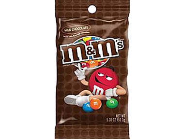 M&M's Plain (Choc Peg Pack)